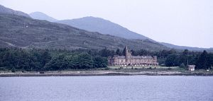 Kinloch Castle from the ferry. Picture courtesy KCFA