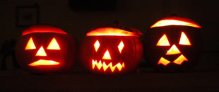 Traditional Halloween jack-o'-lanterns