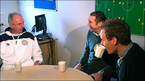 Sven Goran Erikkson, Martin Keown and Dan Walker