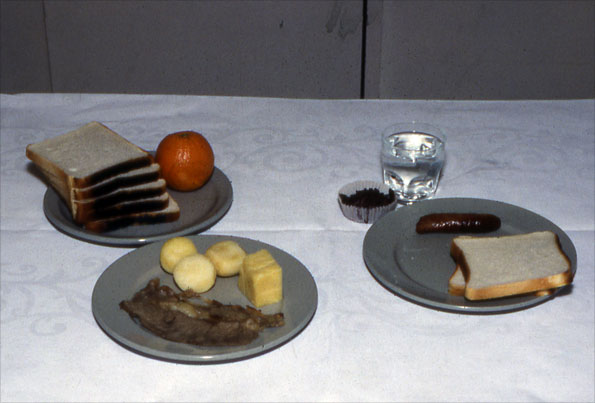 Examples of food quantities served to Blackburn school children, compared to 1930s workhouse meals