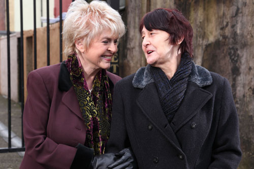 Gloria Hunniford and Ivy laughing