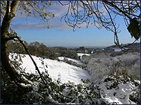 Aisholt in the snow (David Holman)