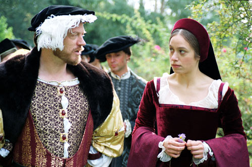 King Henry VIII and Anne Boleyn played by Jared Harris as Henry and Jodhi May as Anne
