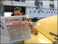 A cuban reads the official newspaper Gramma