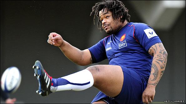 Black football player Fat