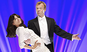 Eurovision Dance Contest hosts Graham Norton and Claudia Winkleman