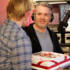 Radio 1 boss Andy presents Chris with a congratulatory cake as he passes the 37 hour mark!
