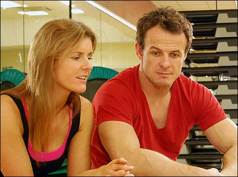 1: Austin Healey with dance partner Erin Boag rehearsing for BBC's Strictly Come Dancing