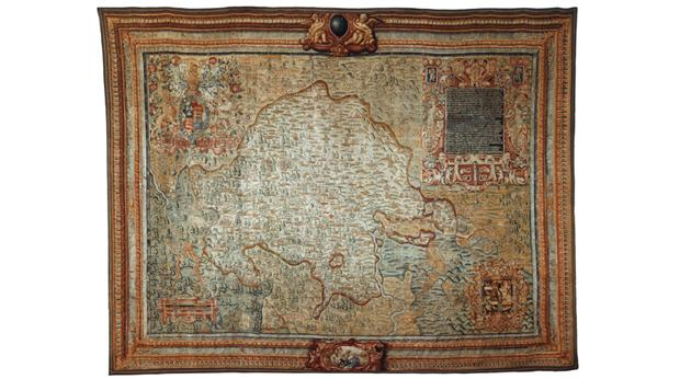 sheldon tapestry map of c1580 copyright museum service