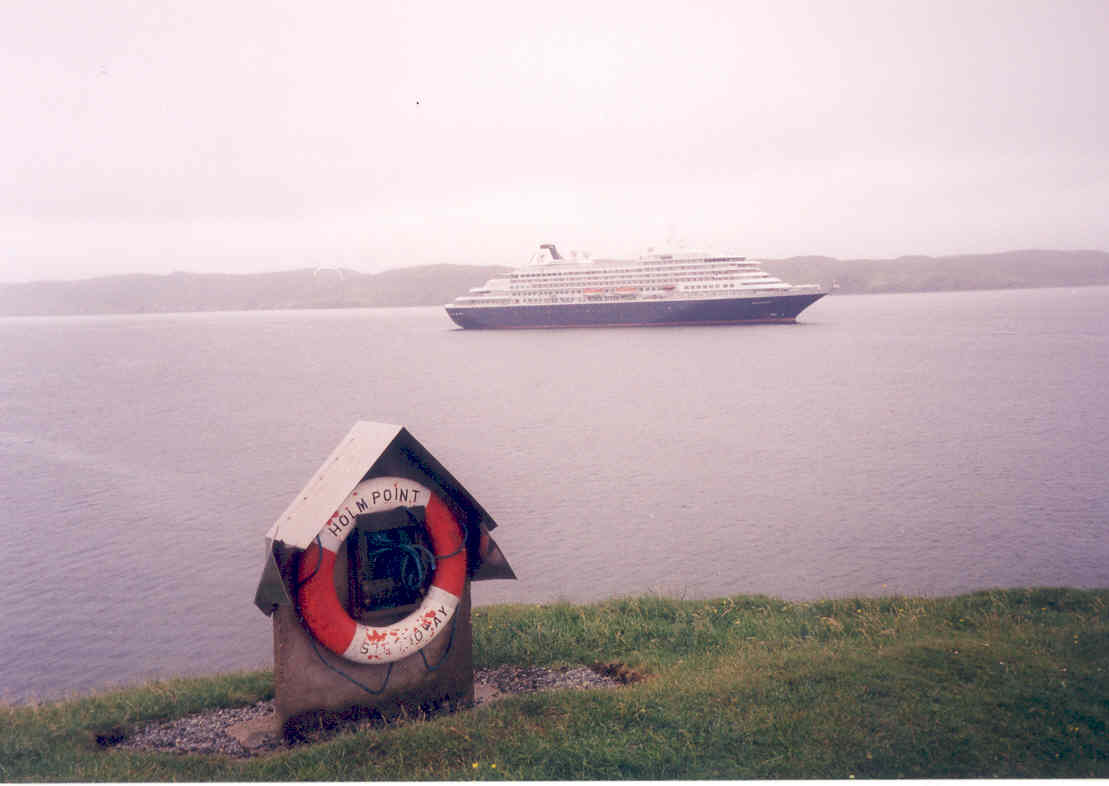 Prinsendam off Holm Point