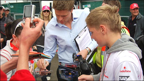 Meeting the F1 fans
