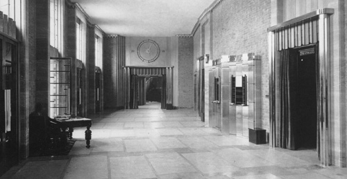 The foyer in the 1930s