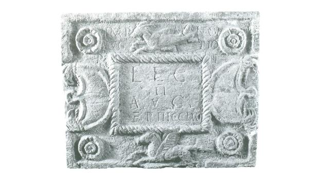 Roman distance slab of the Second Legion