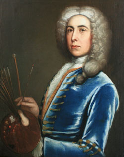 Edward Owen, self portrait, 1732
