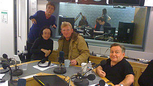 Mat, Liz Rob and Simon in studio