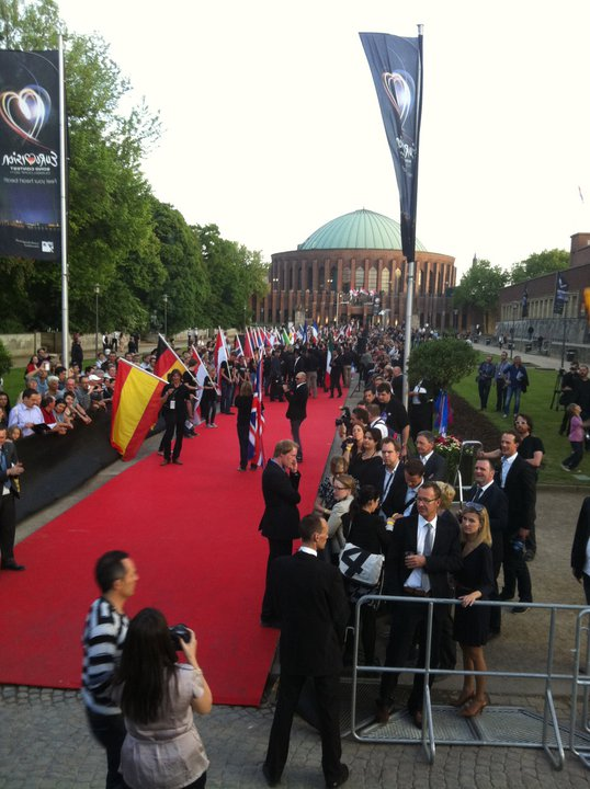 The red carpet event in Dusseldorf for Eurovision 2011