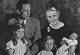 Joseph Goebbels with his family