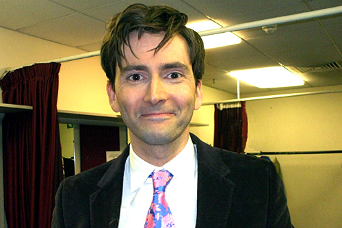 David Tennant backstage at Comic Relief's 24 Hour Panel People