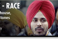 Image of Sikh man in a red turban