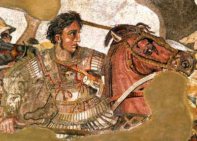 Alexander mosaic from the House of the Faun