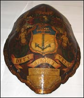 Decorated turtle shell. Photo: Trinity House