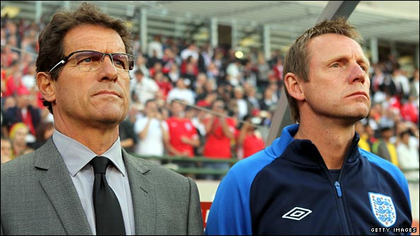England manager Fabio Capello and assistant Stuart Pearce