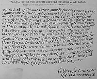 Copy of the 'anonymous' letter delivered to Lord Monteagle