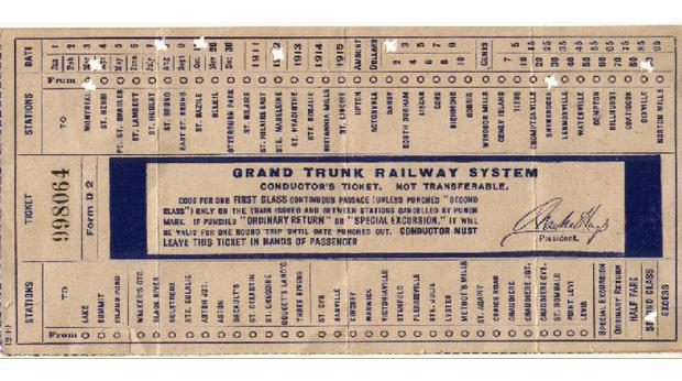 BBC - A History of the World - Object : Grand Trunk Railway