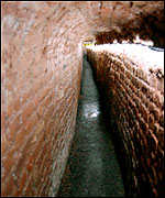 Part of the vaulted passage network
