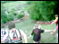 Image from the cheese rolling headcam