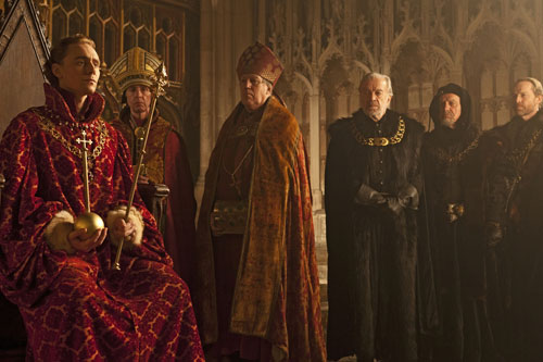 Prince Hal (Tom Hiddleston) is crowned King Henry V in Henry IV Part 1