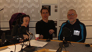 Presenters Liz Carr and Mat Fraser with Mike Hanney from the Inclusive Fitness Initiative