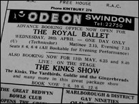 The Kinks also played Swindon on 11th May 1965