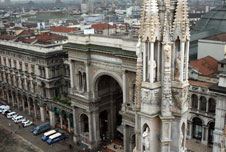 View from the roof of The Duomo, Milan