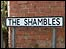 Roadsign for The Shambles in North Curry, Somerset