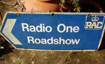 A roadshow roadsign. These weren't for sale.