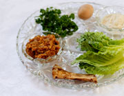 Passover meal with herbs, lamb bone, roasted egg and nut paste. © Carly Hennigan/iStockphoto.com