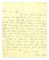 A letter from Arthur Lowe.