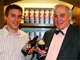 The staff of Wye Valley Brewery, winner of best drinks producer.
