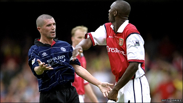Roy Keane and Patrick Vieira in 1999
