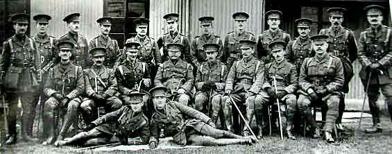 Officers of 10th Battalion Royal Inniskilling Fusiliers