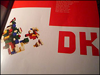 Artwork showing Denmark made out of Lego