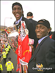 Dwight Yorke and Andy Cole (c) Getty Images