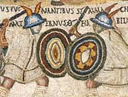 Mosaic of fighting gladiators