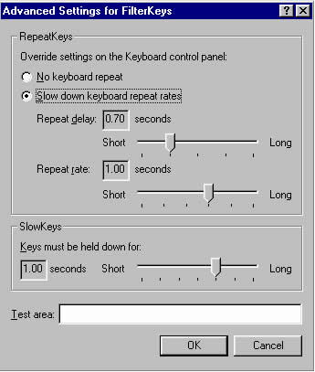 Advanced Settings dialog box