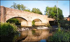 The bridge over the river at Culmstock