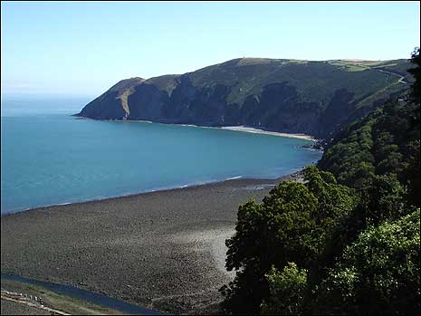 The coast at Lynmouth