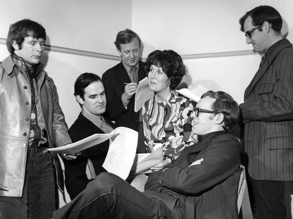 Picture shows - Bill Oddie, John Cleese, Tim Brooke-Taylor, Jo Kendall, Graeme Garden and David Hatch (Producer) from