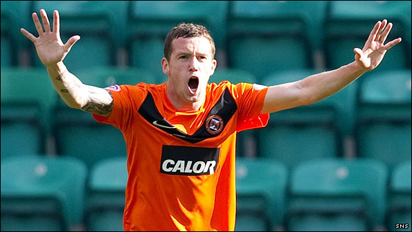 Dundee United midfielder Danny Swanson