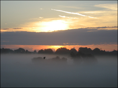 Mist over Wingham. Photo by Eleanor Miles.